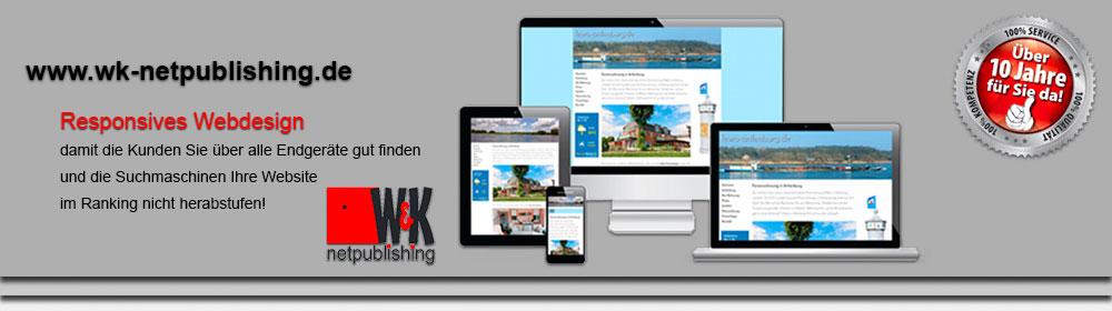 W K Netpublishing Werbung Webdesign Webtest Cms